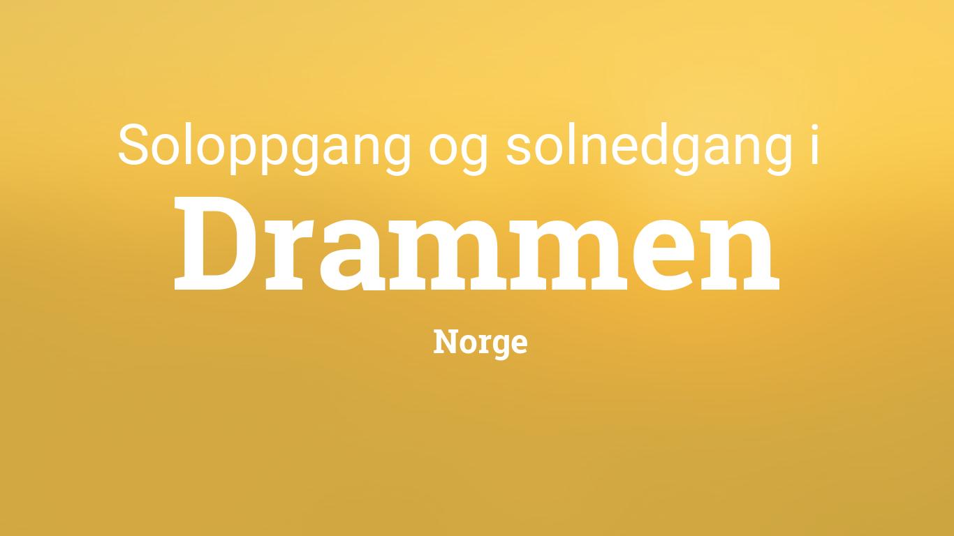 Soloppgang Og Solnedgang I Drammen
